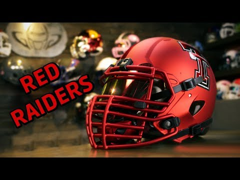 HELMET BUILD - Texas Tech Red Raiders Satin Black Out Riddell Speed Concept
