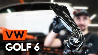 Jak wymienić Wahacz zawieszenia koła VW GOLF VI (5K1) - darmowe wideo online