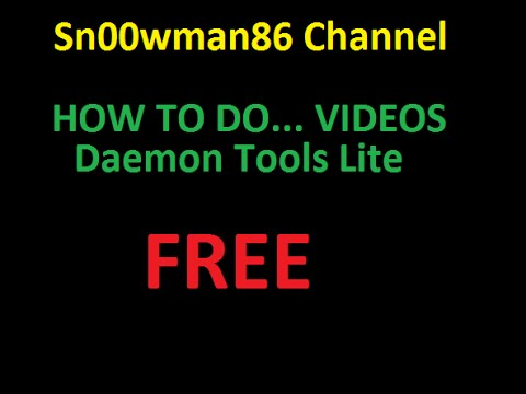 how to install daemon tools lite free youtube. Black Bedroom Furniture Sets. Home Design Ideas