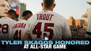 Tyler Skaggs honored at 2019 MLB All-Star Game