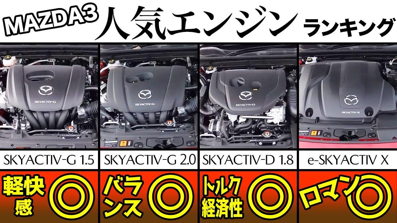 MAZDA3エンジン4種類、どれが一番いい?各エンジンインプレッション