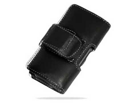 Carrymobile Leather Case for HTC Touch Diamond/HTC Diamond 100 /HTC P3700/HTC P3701/HTC P3702 Victor/T-Mobile MDA Compact IV - Pouch Type (Black)