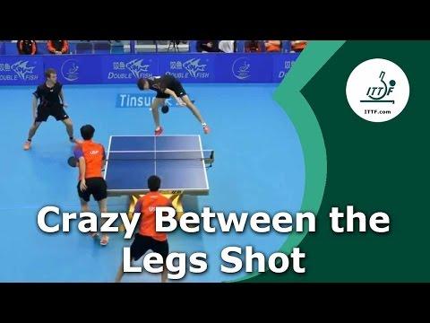 VIDEO – Un incredibile colpo sotto le gambe nel tennis da tavolo