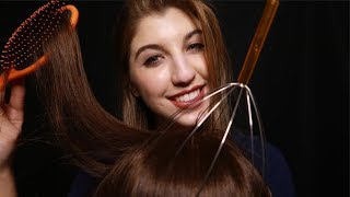 ASMR Scalp Massage & REAL Hair Brushing ~ (Color/ProperAudio)