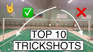 TOP 10 BADMINTON TRICK SHOTS - BadmintonExercises 🏸