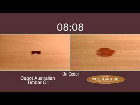 Olympic Stains Woodland Oil Absorption Test Youtube