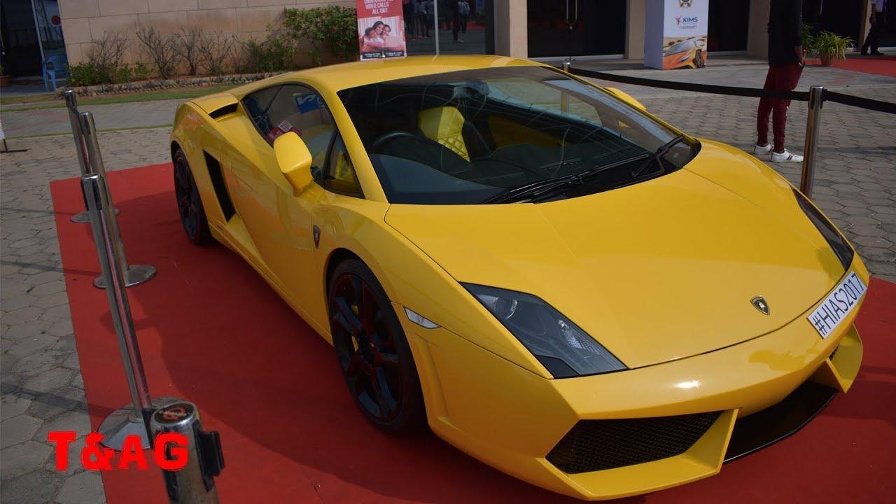 Lamborghini Gallardo At Hyderabad Auto Expo 2017 T Ag Youtube