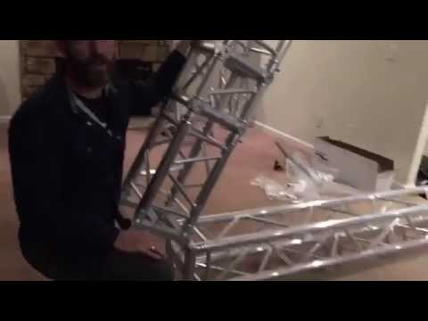 At home aerial truss rig installation