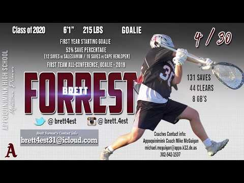 Brett Forrest, 2020 Appoquinimink High School - 2019 Highlights