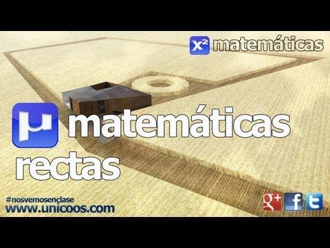 Ecuacion de la recta SECUNDARIA (4ºESO) geometria plana