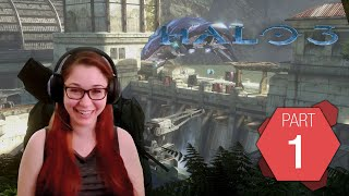 Halo 3 Pt. 1 | Tracy's first time playing Halo