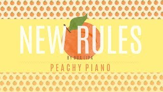 New Rules - Dua Lipa   Piano Backing Track Video