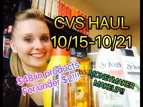 CVS HAUL 10/15/17-10/21/17~$48 worth of...