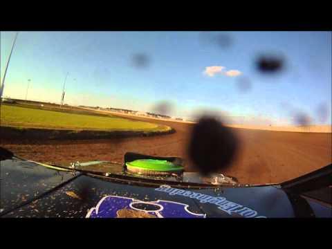 Tony Rost In car on board camera Junction Motor Speedway Sport Mod Heat 6/25/11