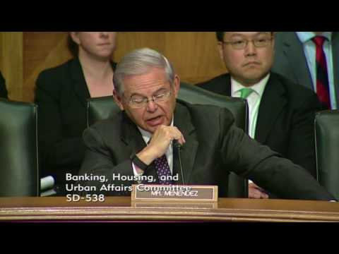 Menendez Questions Trump Nominees for Currency Comptroller & Fed Reserve Vice Chair for Supervision