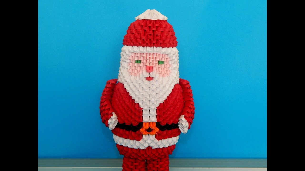 how to make 3d origami santa claus 2016 part 1 youtube