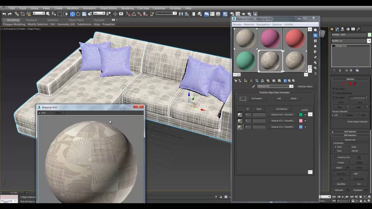 How To Use a Multi Sub Materials in 3Ds Max