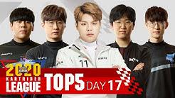 17회차 TOP5 [2020.05.16] 2020 SKT JUMP 카트라이더 리그 시즌1