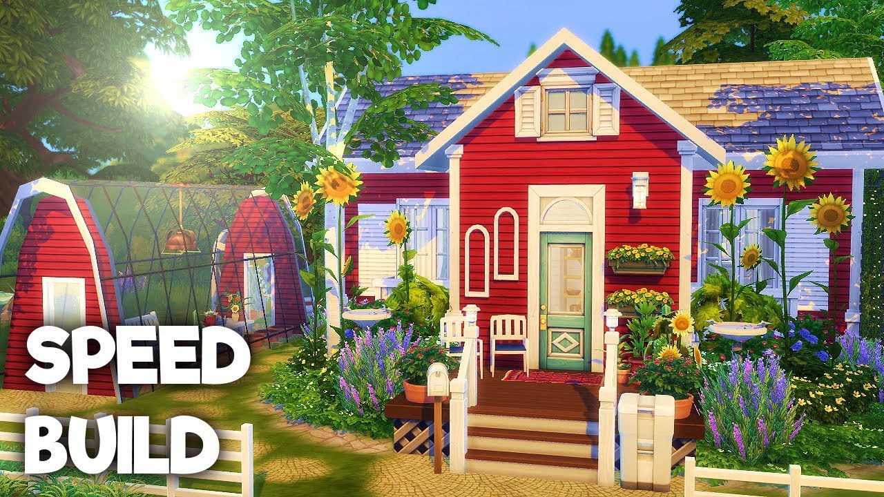 Tiny Swedish House Base Game The Sims 4 Speed Build