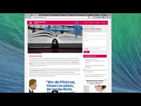 Steuerberater-Akquise-Website - Klickbare Telefon Nummer
