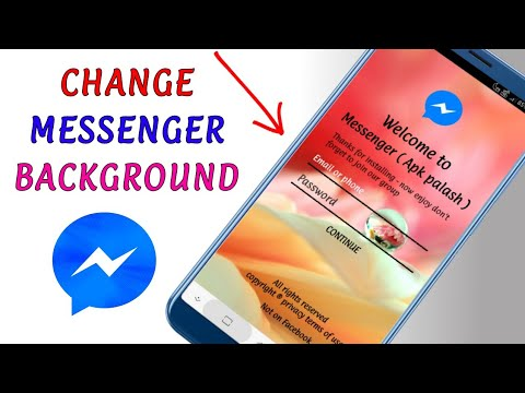 How to set a picture at messenger background