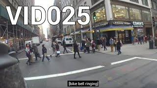 Biking in NYC, avoiding pedestrians and jaywalkers. Enjoy my conten...