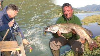 Pecanje štuke šarana i deverike na Zvorničkom jezeru Varaličarenje Fishing big pike