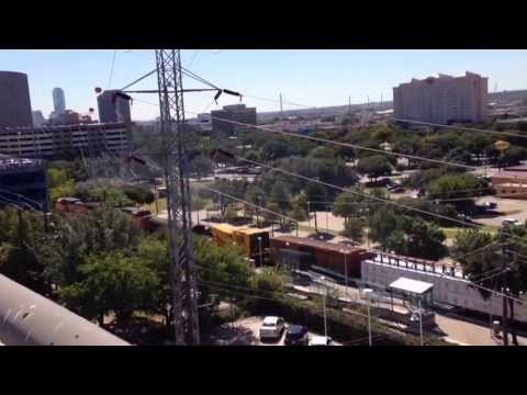 Train at Parkland Hospital Dallas, Texas -mixed freight