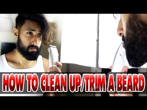 How to trim your beard