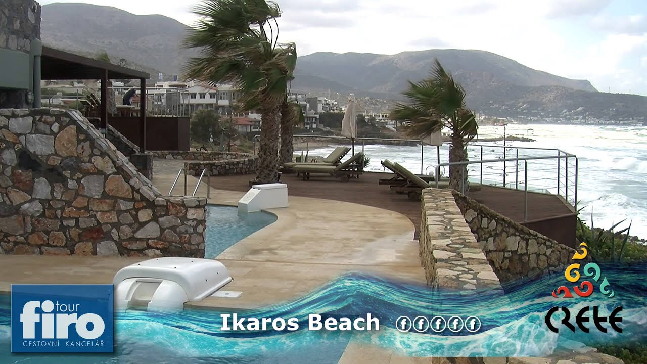 Ikaros beach luxury resort spa kréta řecko firo tour