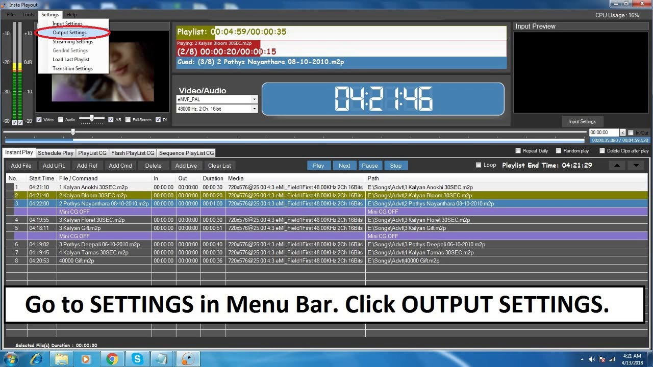 How To Set NDI OUT In Insta Playout Insta WebTV - ANews