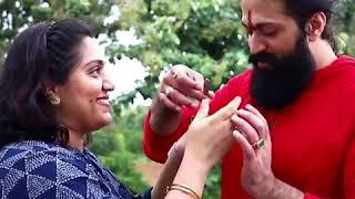 Sister Tie Rakhi To Yash   Rocking Star Yash Raksha Bandhan Celebration with Sister Nandini Video