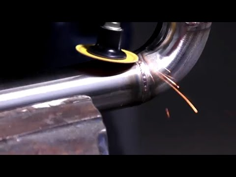 Weld Removal And Finishing With The Norton Mini Angle Grinder