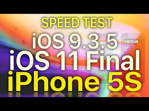 Planned Obsolescence? iPhone 5S : iOS 9.3.5 vs iOS 11 GM.