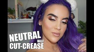 Neutral Half Cut Crease Look | Nicole Guerriero