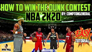 HOW TO WIN NBA 2K20 DUNK CONTEST 🔥 EASY🔥 #NBA2K20 TUTORIAL