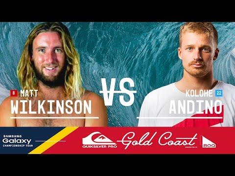 Matt Wilkinson Vs. Kolohe Andino - Quiksilver Pro Gold Coast 2016 Final