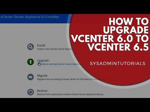 vSphere 6.5 - VMware vCenter Server Appliance 6.0 upgrade to VCSA 6.5