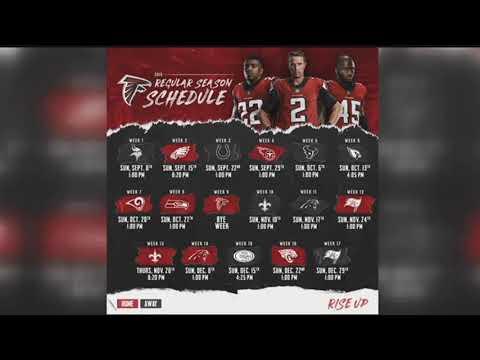 2019 Atlanta Falcons Schedule Atlanta Falcons release 2019 schedule   YouTube