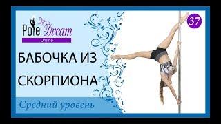 37 - Бабочка из скорпиона - Pole Dance lesson