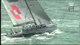 Rolex Fastnet Race 2013 - the last start the massive 100ft monohulls in IRC Z and CK