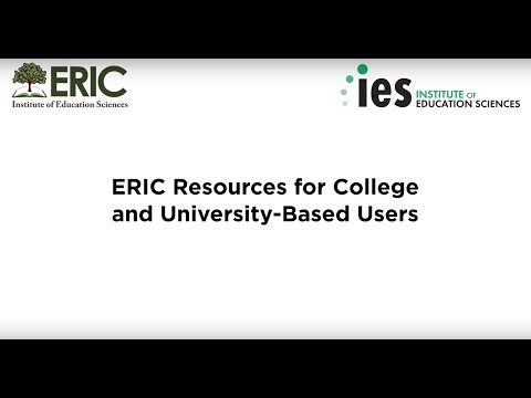 ERIC Resources for College and University-Based Users