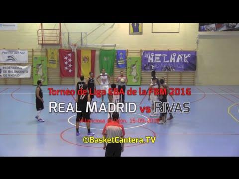 EBA - REAL MADRID vs. RIVAS.- Torneo Liga EBA Fed. Madrid (BasketCantera.TV)