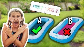 Don't TRUST FALL into the WRONG MYSTERY POOL - Challenge by Mimi Locks
