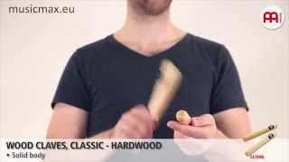 MEINL Wood Claves CL1HW | Demonstration of sound | How to play claves