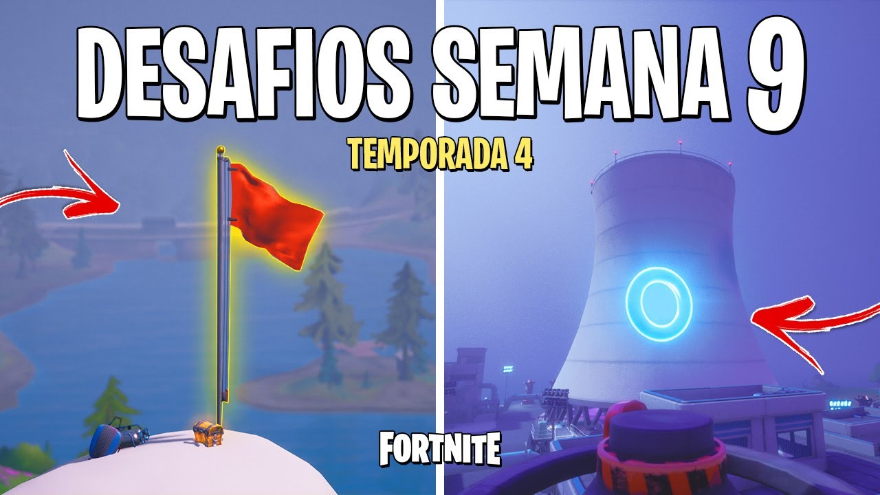 FORTNITE - RESOLVER DESAFIOS SEMANA 9 TEMPORADA 4