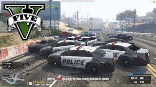 30 POLICJANTÓW VS 1 RABUŚ - SAMOCHODY - FiveM czyli GTA Online inaczej #01