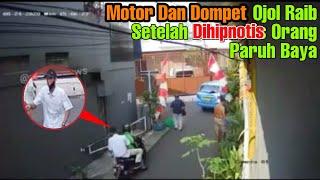 Rekaman CCTV | Detik-detik Ojol Dihipnotis Bapak Paruh Baya | Motor Dan Dompet Raib