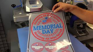 How to Make Custom Memorial Day T-Shirt Using Digital HeatFX