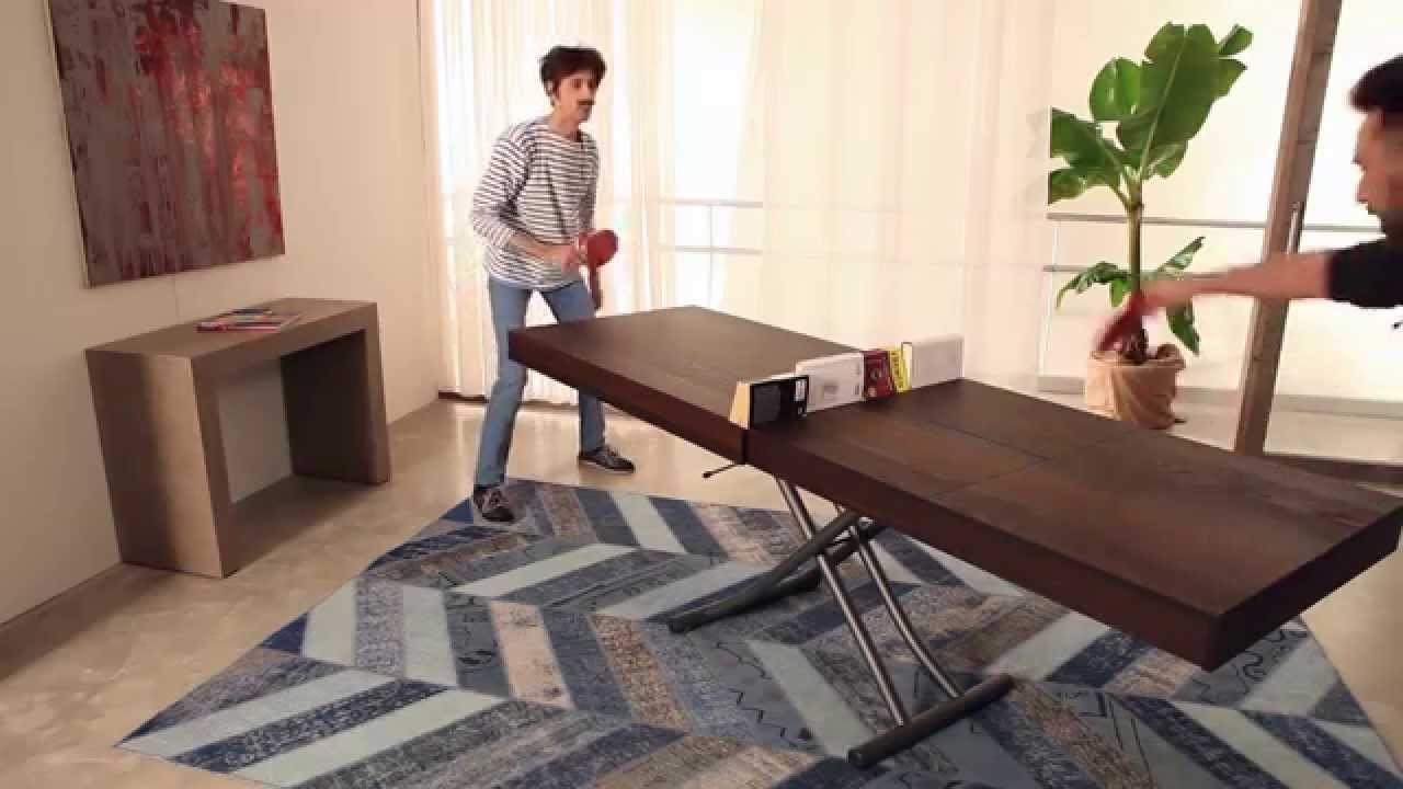 Ozzio Design Italia.Newood Transformable Table By Ozzio Italia Tavolino Trasformabile Newood By Ozzio Italia